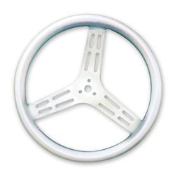 Longacre 56822 15 in. Aluminum Steering Wheel, Bump Grip, Dished