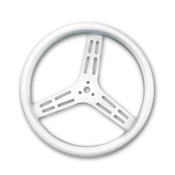 Longacre 56834 14 in. Uncoated Aluminum Steering Wheel, Smooth, Dished