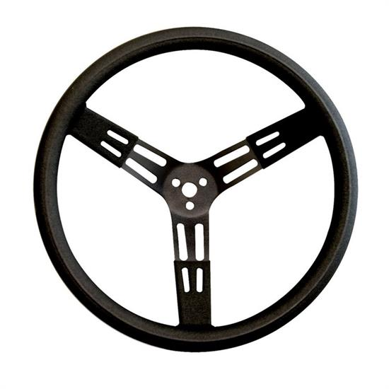 Longacre 52-56851 17 in Steel Steering Wheel, Black, Smooth Grip