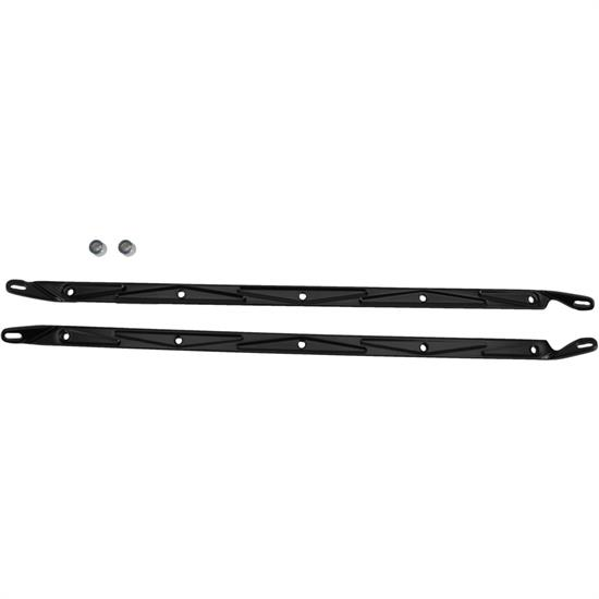 Eddie Motorsports MS374-37MB 1957 Chevy Hood Support Braces, Black