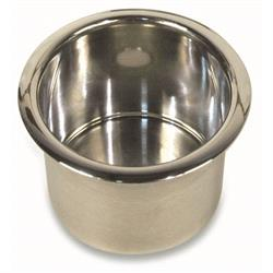 Eddie Motorsports MS281-31P Polished Spun Aluminum Drink Holder, Large