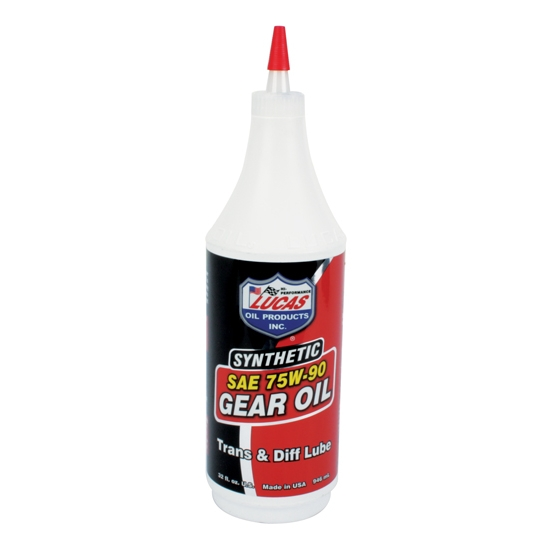 Lucas Oil 10047 SAE 75W90 Synthetic Racing Gear Oil, 1 Quart