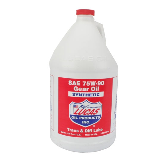Lucas Oil 10048 SAE 75W90 Synthetic Racing Gear Oil, 1 Gallon