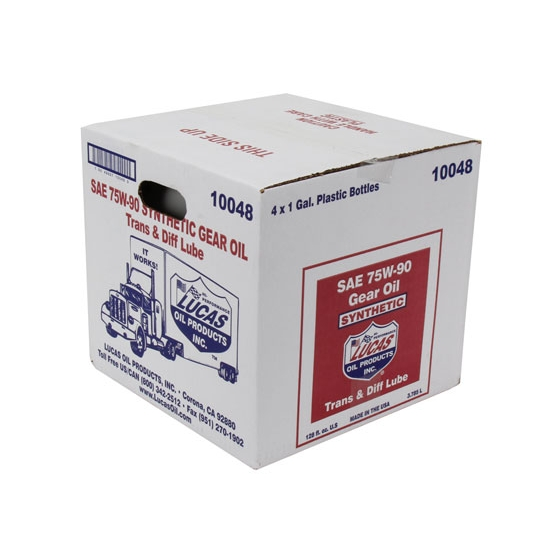 Lucas Oil 10048 SAE 75W90 Synthetic Racing Gear Oil, 4 Gallon