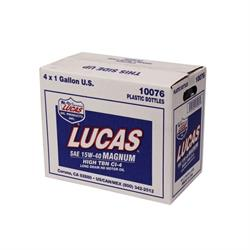 Lucas Oil 10076 SAE 15W40 Magnum High TBN CI-4 Engine Oil, 4 Gallon