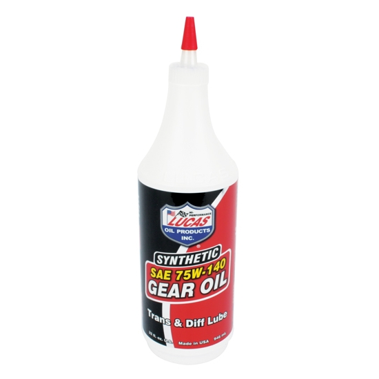 Lucas Oil 10121 SAE 75W140 Synthetic Racing Gear Oil, 1 Quart