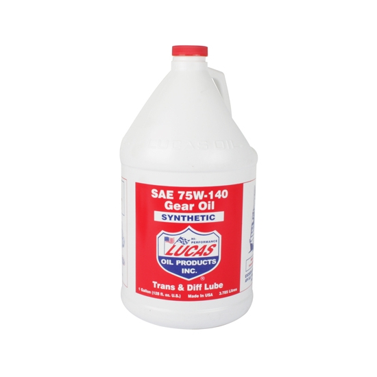 Lucas Oil 10122 SAE 75W140 Synthetic Racing Gear Oil, 1 Gallon