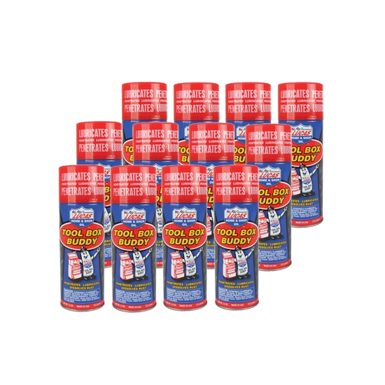 Lucas 10392 Tool Box Buddy Aerosol, Case of 12 Cans