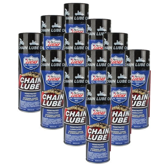 Lucas Oil 10393 Sprocket and Chain Lube Aerosol, Case