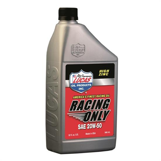 Lucas Oil 10620 SAE 20W50 High Performance Racing Engine Oil, 1 Quart