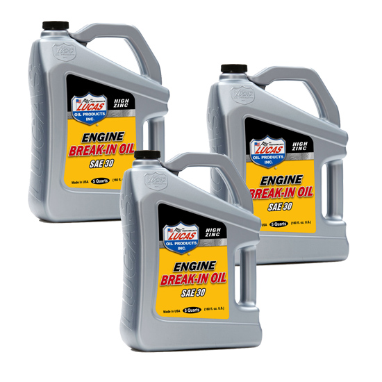 Lucas Oil 10631 Lucas Break In Engine Oil 30w3x 5 Quart Jugs