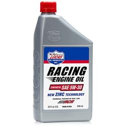 Lucas Oil 10885 Synthetic SAE 5W30 Racing Motor Oil, 6 Quarts