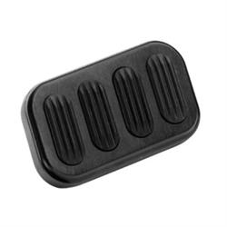 Lokar XBAG-6005 Standard Black Billet Alum Brake Pedal Pad w/Rubber