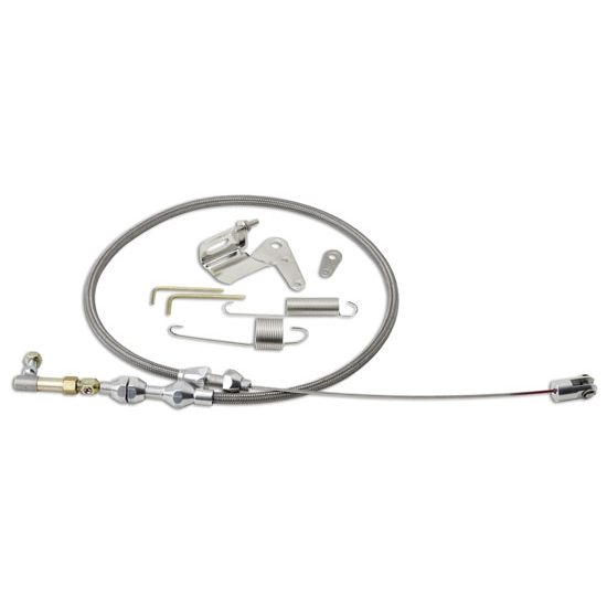 Lokar DP-1000HT36 36 Inch Duo-Pak Hi-Tech SS Throttle Cable Kit