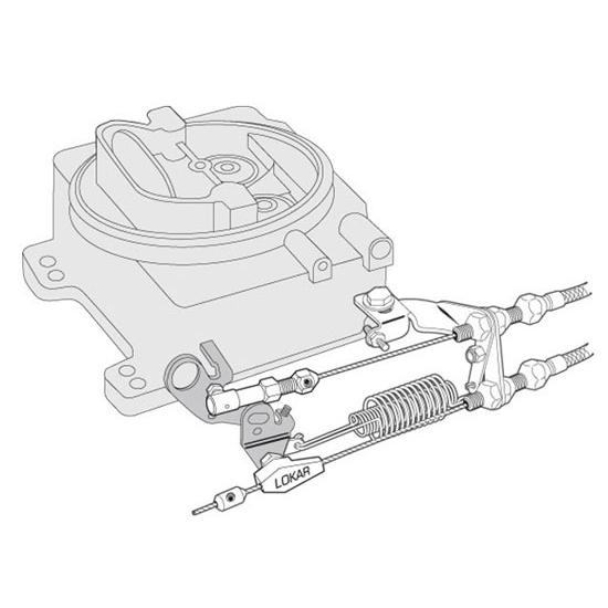 Stainless Steel Black Throttle Bracket /& Spring Lokar XSRK-4000