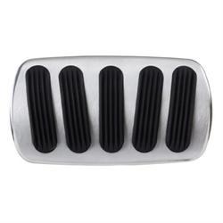 Lokar BAG-6138 55-57 Chevy Curved XL Non-Power Alum Brake Pedal Pad