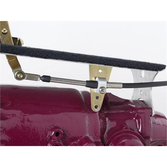 Lever//Brackets//Cable//Neutral Safety Switch//Hardware Lokar COS60C4BN Cable Operated Shifter; 16 in Nostalgia Lever; Black Mushroom Knob; For Ford C-4 Transmission; Incl