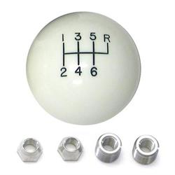 Lokar SK-6875 White Manual 6 Speed Shift Knobs