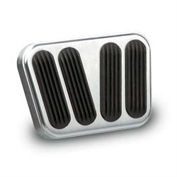 Lokar BAG-6110 Billet Alum. Brake/Clutch Pad w/Rubber, Brushed Alum.