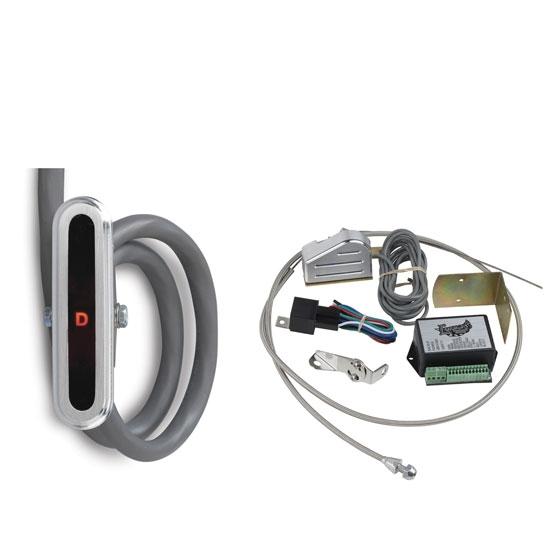 Lokar CIND-1720 Vertical Alum  LED Dash Shift Indicator Kit, Ford AOD
