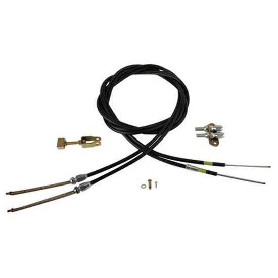 Lokar EC-80FU108 Emergency Brake Cable, Floor Mount, 108 Inch