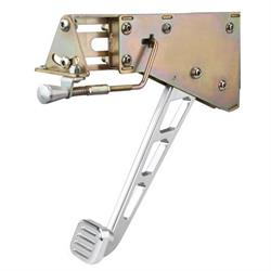 Lokar EFB-9006 Billet Aluminum Foot Brake w/Windowed Arm/Pad, Chromed
