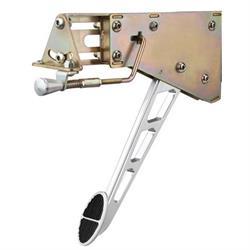 Lokar EFB-9010 Billet Alum Foot Brake w/Chrome Windowed Arm w/Oval Pad