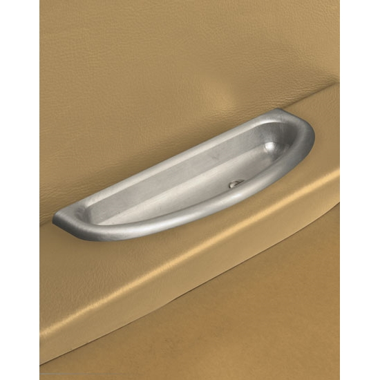 Lokar IDP-2002 Billet Alum Cresent Oval Arm Rest Door Pulls, Pair