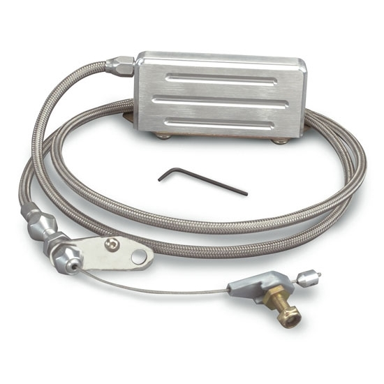Lokar KDP-2400HT Polished Hi-Tech TH-400 Electric Kickdown Cable Kit