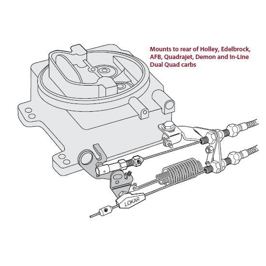 Lokar SRK-4000 Stainless Steel Carburetor  Bracket /& Return Springs