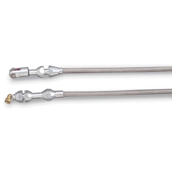 Lokar TCP-1000TPV Polished 36 Inch Vortec Hi-Tech Throttle Cable