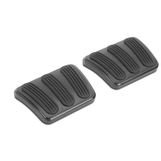Lokar XBAG-6163 Billet Black Finish Curved E-Brake Pedal Pad with Rubber for Chevrolet Chevelle