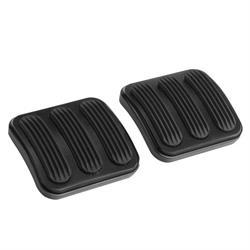 Lokar XBAG-6174 Midnight Series 46-10 Jeep Clutch/Brake Pedal Pad /Rub
