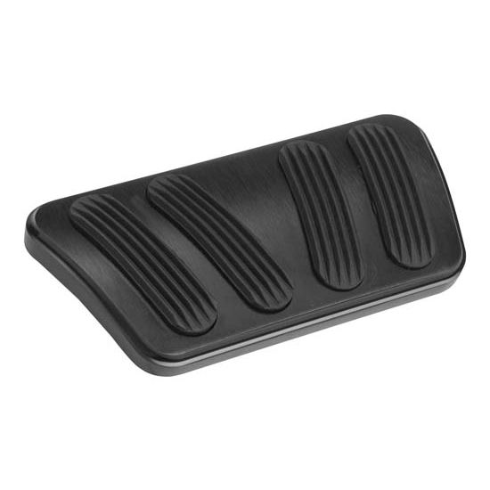 Lokar XBAG-6186 Midnight Series 66-77 XL Billet Manual Brake Pedal Pad