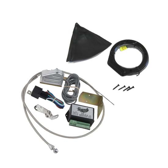 Lokar XCINB-1756 Midnight Series Vert. Rnd LED Shift Boot Kit-Chrysler