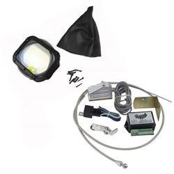 Lokar XCINB-1781 Midnight Series Horiz. Rect. LED Shifter Boot Kit, GM