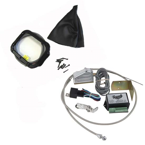 Lokar XCINB-1785 Midnight Series Horiz Rect LED Shift Boot Kit, C4/C6