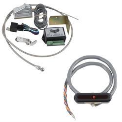 Lokar XCIND-1721 Midnight Series Horiz. Alum LED Dash Indicator, C4/C6