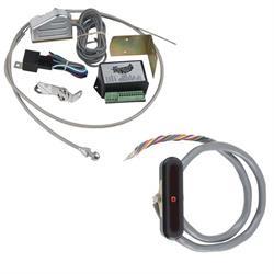 Lokar XCIND-1722 Midnight Series Vert. Alum. LED Dash Indicator, C4/C6