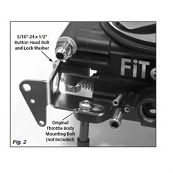 Lokar TCB-40FIT Throttle Cable Kickdown Bracket for FiTech EFI Kits