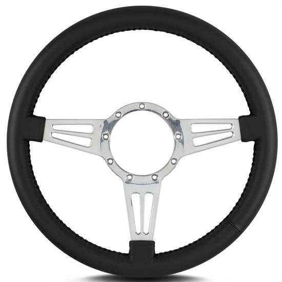 Lecarra 44401 14 Inch Steering Wheel, Mark 4 Dbl Slot, Black Wrap