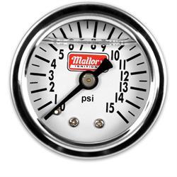 Mallory 29138 1.5 Diameter Fuel Pressure Gauge