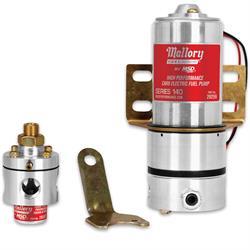 Mallory 29208 Model 140 Fuel Pump and 3,Port Bypass Regulator Kit