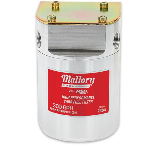 Mallory 29247 Low Pressure Carbureted Fuel Filter