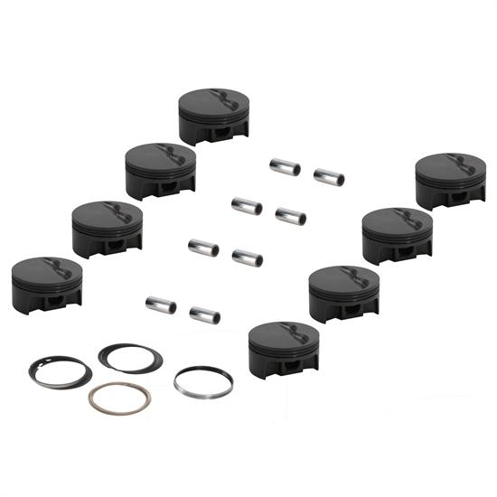 MAHLE Forged Flat Top Pistons, SBC