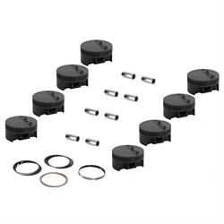 MAHLE SBC Forged Flat Top Pistons, 6.0 Inch Rod