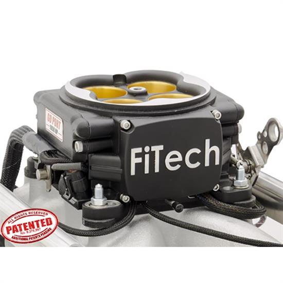 FiTech 30258 Go Port EFI Fuel Injection System, BBC, Black