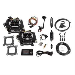 FiTech 31062 Go EFI 2x4 Dual Quad Fuel Injection System, 625 HP