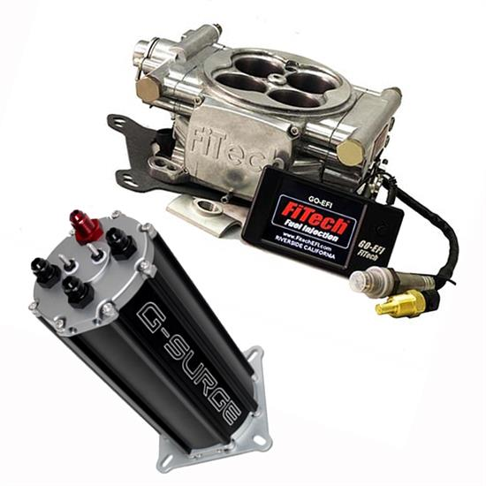 FiTech Go EFI 4 Fuel System Kit w/G-Surge Tank, 600 HP