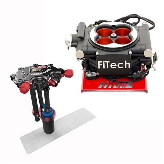 FiTech Go EFI 4 Fuel System Kit w/Hy-Fuel Tank, 600 HP, Power Add